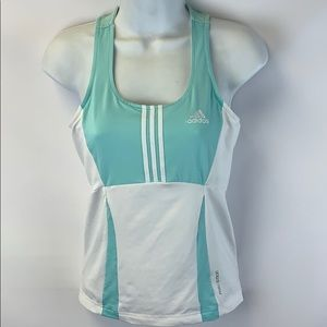Adidas formotion climacool white turquoise top S